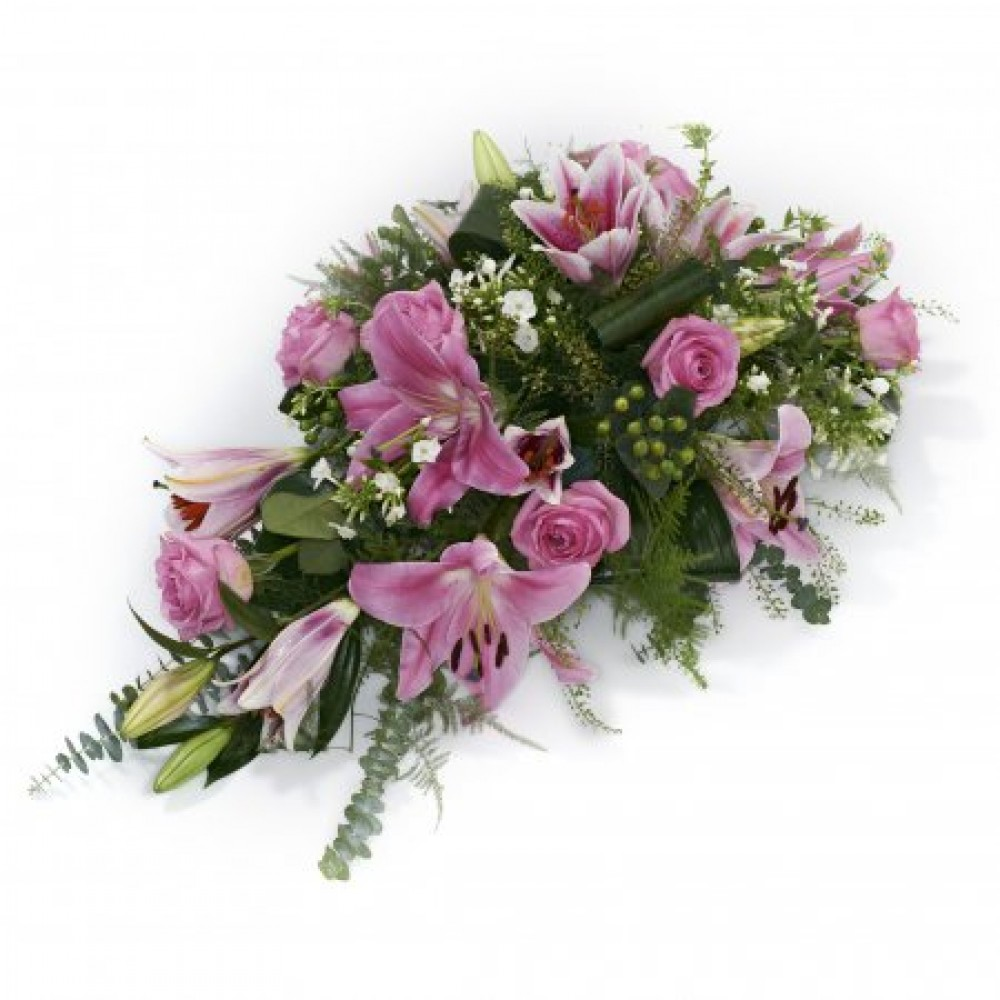 Funeral tributes flowers kendal funeral tributes flowers delivery pink single ended spray izmirmasajfo