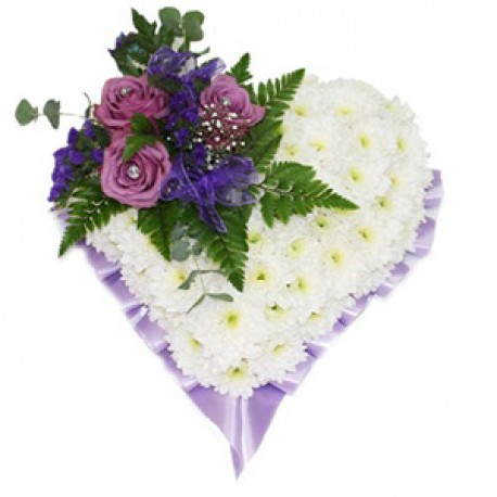 lilac solid heart