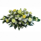 Mixed flower casket spray